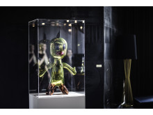 Skulpturen Titi av Jeff Koons i lobbyen på THE THIEF