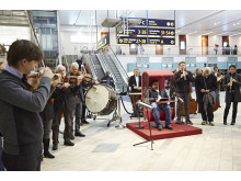 Göteborgs Symfoniker flashmob Landvetter 11 dec 2013a