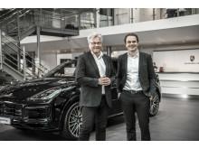 Helge Ellingsen, administrerende direktør Hedin Performance Cars, Stig Sæveland, administrerende direktør Hedin Automotive