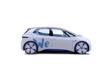 """Eldrivna konceptbilen I.D. som en """"delad"""" Volkswagen."""