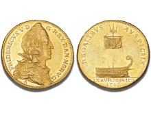 Denmark, 2 Ducat 1746