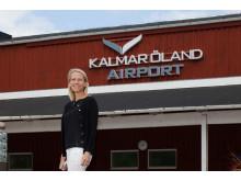 Karin Lagerlöf pressbild flygplats entré