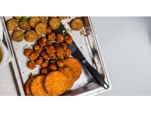Morotsbullar och vegetariska burgare från Felix till resturang och storhushåll