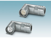 New angled M23 circular connectors