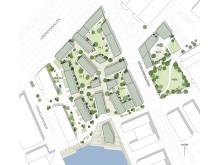 Kvarter 1 - byggrätten som Riksbyggen förvärvat av Älvstranden Utveckling