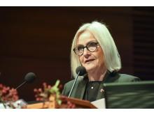 Monika Kaus beim 10. Kongress der Deutschen Alzheimer Gesellschaft in Weimar