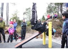 Sit-up benk. Knutahaugen aktivitetspark Fet