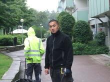 Zijun har tidigare själv varit feriearbetare samt ledare i GKSSs seglarskola och är nu en av arbetsledarna som har haft hand om en grupp på fem personer. Foto: Gårdstensbostäder