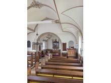 Ravnebjerg Kirkes indre set fra øst - fra Danmarks Kirker