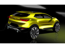 Kia Stonic First sketch_rear