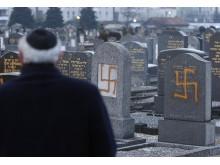 Vandaliserad judisk begravningsplats i Strasbourg 2010