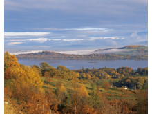 LOCH LOMOND FROM THE GLEN FRUIN ROAD, ARGYLL.