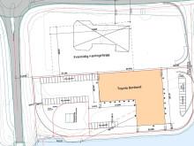 Nytt lavenergibygg på Sortland, situasjonsplan