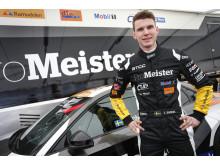 Tobias Brink, Brink Motorsport, har stora förhoppningar om toppresultat för sitt team i Anderstorp i helgen. Där borde  hans Audi vara riktigt konkurrenskraftig. Foto: Tony Welam/STCC