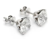 Exklusiva 20/10, Nr 197, ÖRHÄNGEN, 18K vitguld, 2 briljantslipade diamanter 4,09 ctv (2,02 + 2,07 ct) TW(F)/SI2, graderade av HRD