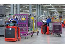 Tester på BMW:s fabrik i Leipzig