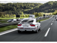 Audi A7 piloted driving concept autobahn A9