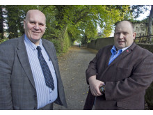 Pictured is Alderman Paul Reid and Chair of Borough Growth, Councillor Gregg McKeen in Glynn
