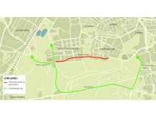 Karta_omledning Karlsdalsallén