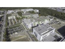 Der Neubau der Impfstoffproduktion von Takeda in Singen (vorne)