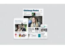 Ny design för GP:s pappersutgåva, eGP och gp.se