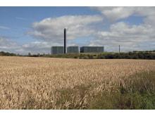 Fotomontage  biomassaeldat kraftvärmeverk i Danmark