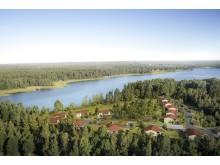Korseberg Park, flygbild