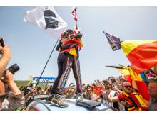 Neuville tog hem segern i Rally Italia Sardegna.