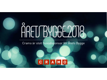 Cramo stolt huvudsponsor till Årets Bygge 2018