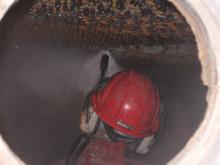 Kattilanpiikkausta energialaitoksessa