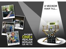 Nedräkning till Ryobi One+ TV reklam