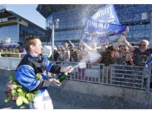 Björn Goop efter segern med Tiomoko i Elitloppet 2014