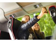 Swebus nya Scaniabussar med gratis wifi, USB-uttag vid varje plats och eluttag vid varje stolspar
