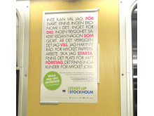 För dig som vill starta företag tunnelbanekampanj