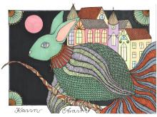 """""""Kaniner"""" - målning av Karin Efraim Gärdegård"""