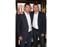 Vitali och Wladimir Klitschko vid premiären av Klitschko
