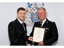 The Commissioner with PC Robert Weller (who at the time was a Special Constable)