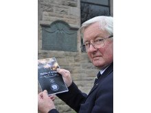 Grenville Johnston, LL of Moray with the programme for Arras memorial event