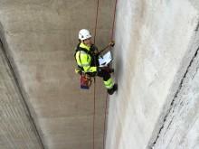 Inspektion av betongkonstruktion vattenkraftverk