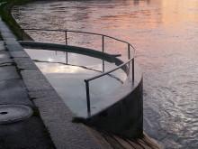 Wassertretbecken am Rhein in Basel, Kneipp-Parcours