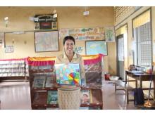 Lågstadieläraren Teak Chhiv, Chetr Boreidistriktet i Katieprovinsen, Kambodja