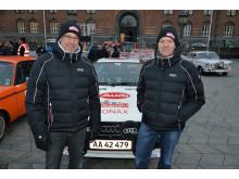 Toni Hansen og Per Brodersen før starten på Rådhuspladsen 29 jan 2015