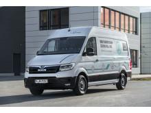 MANs elektriske varebil eTGE - et miljøvenligt alternativ til pakkedistribution i byerne