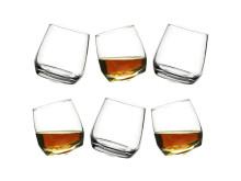 Whiskyglass med avrundet bunn (6-pkn)