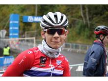 Jonas Iverby Hvideberg under sykkel-VM i Bergen