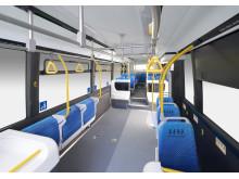 Sora är drygt 10,5 meter lång och har plats för 78 passagerare, varav 22 sittande