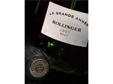 Närbild Bollinger La Grande Année 2007