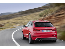 Audi RS Q3 red rear left side