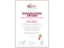 INNOVATION Award Prof. Dr. R. Klopp