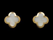Moderna 14/12, Nr: 231, VAN CLEEF & ARPELS, örhängen, Alhambra, 18K guld, pärlemor
